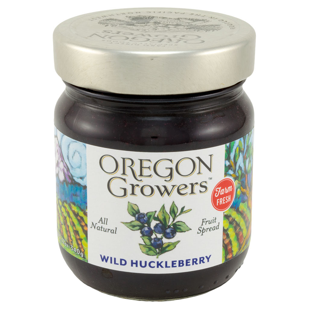 Huckleberry Jam jar, Oregon Growers