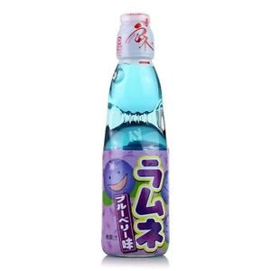 日本波子汽水蓝莓味200ml ramune sabor a blueberry
