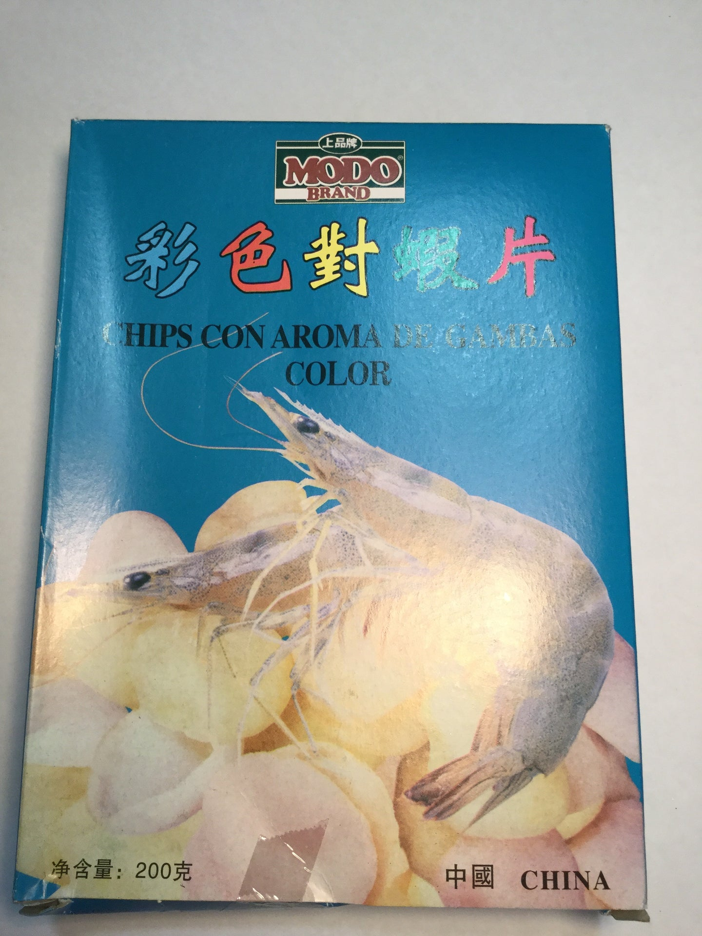 上品牌彩色虾片200g chips de gambas color