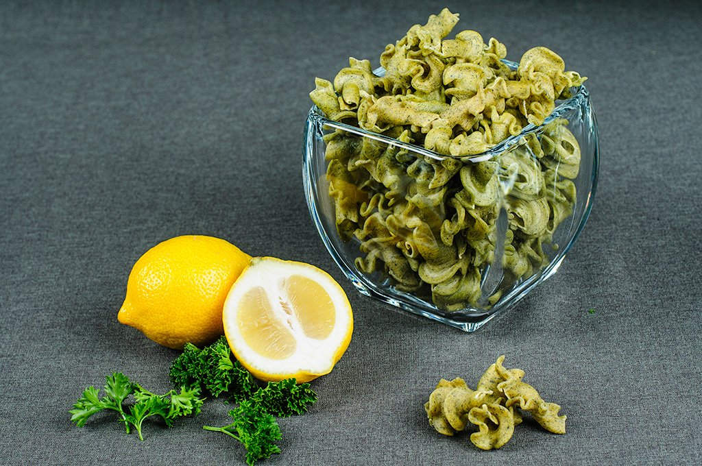 Gluten Free Lemon Parsley Trumpets