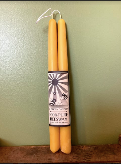 "Beeswax 10"" Tapers"