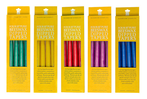 Beeswax Tapers 10''