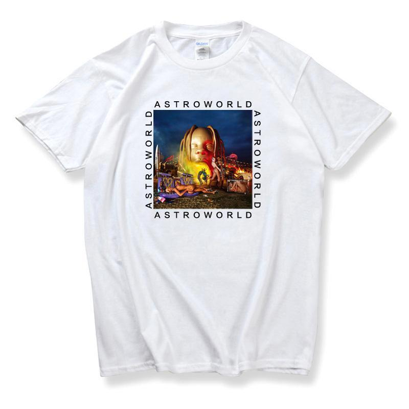 T-shirt Travis Scott Astroworld Blanc