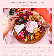 Picnic in style with picnic season