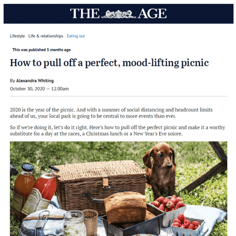 The Age How to pull off the perfect, mood-lifting picnic