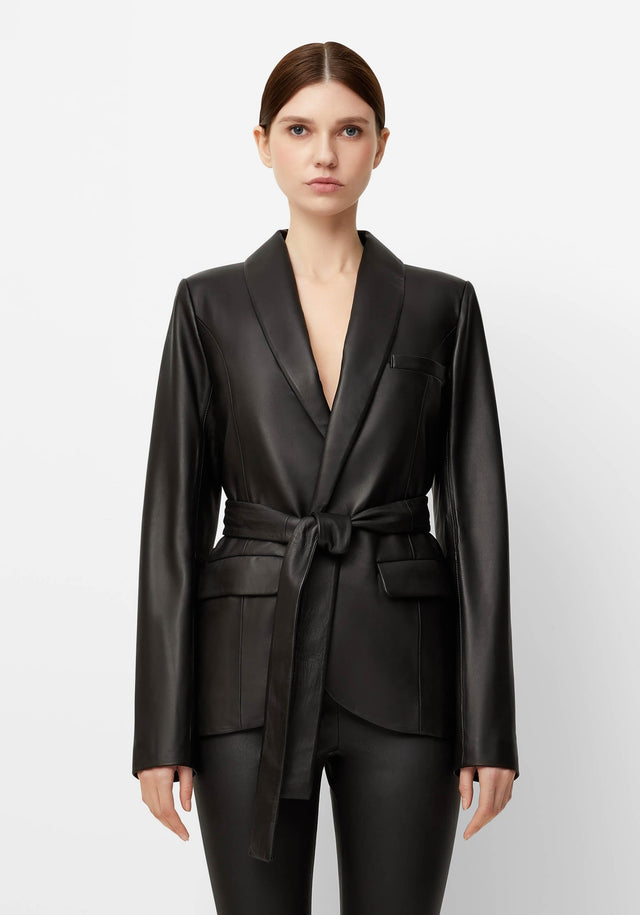 THORA LEATHER BLAZER
