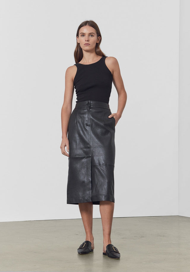 VENDETTA LEATHER SKIRT