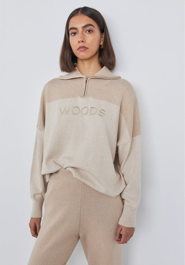 WOODS ZIP KNIT