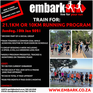 New 21.1km or 10km Running Program
