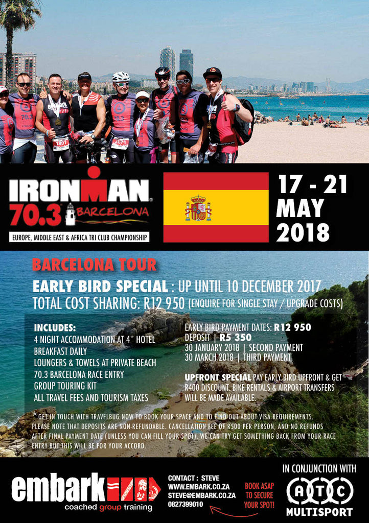 We are going to Spain for IRONMAN 70.3 Barcelona…