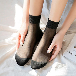 Summer Ultra Thin Purl Mesh Loose Socks