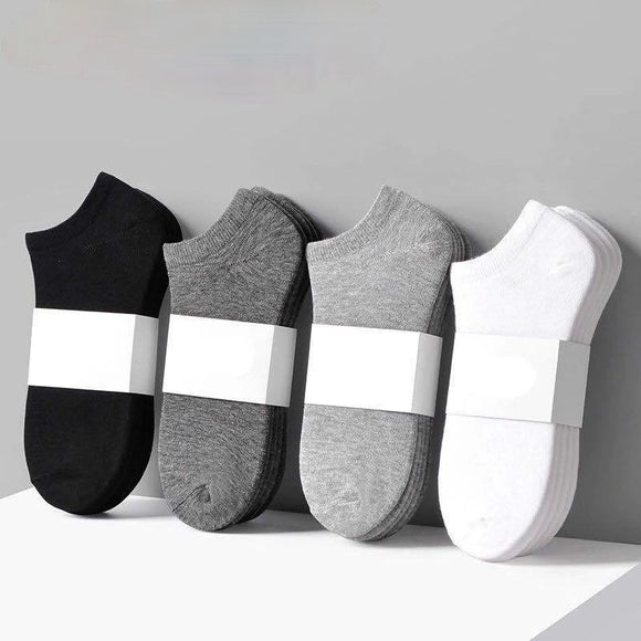 Solid Color Breathable Comfortable Sports Cotton Ankle Socks