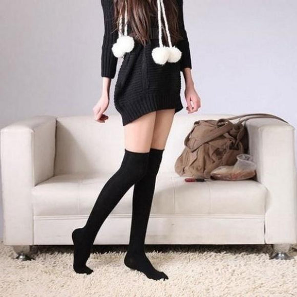 Sexy Cotton Over Knee Thigh Long Stockings - chicstocking