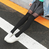Solid Color Patchwork Velvet Thigh High Stockings - chicstocking