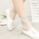 Elegant Lace Bow Tie Socks - chicstocking