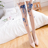 3D Flower Sexy Tights Stockings Pantyhose - chicstocking