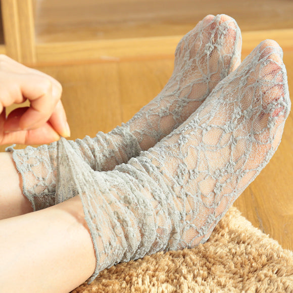 Lace Mesh Ultra Thin Loose Socks
