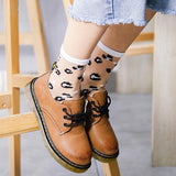 Fashion Transparent Crystal Silk Sexy Leopard Grain Casual Breathable Women Short Socks - chicstocking