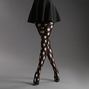 Solid Color Elasticity Hollow Mesh Stockings Pantyhose - chicstocking