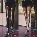 Cartoon Skeleton Thigh High Stockings Pantyhose - chicstocking