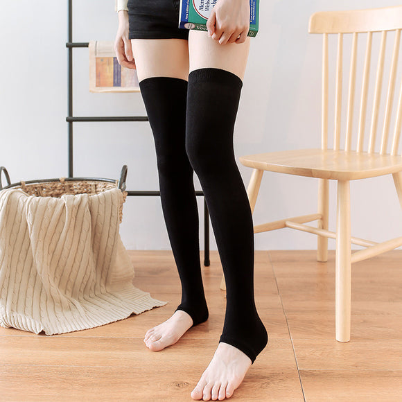 Winter Leg Warmer Solid Color Thigh High Stockings