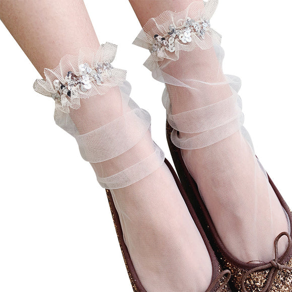 Lace Women Gauze Socks - chicstocking