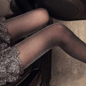 Sexy Women Ladies Charming Shiny Pantyhose Glitter Tights Stockings - chicstocking