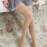 Women Winter Cable Knit Over Knee Long Boot Thigh-High Warm Stockings Leggings - chicstocking