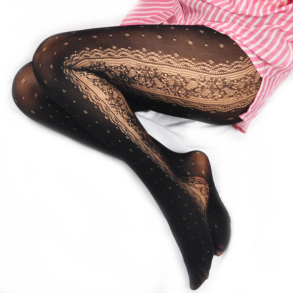 Lolita Lace Mesh Flower Cosplay Stockings Pantyhose - chicstocking