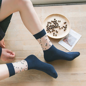 Lace Flower Cotton Socks - chicstocking