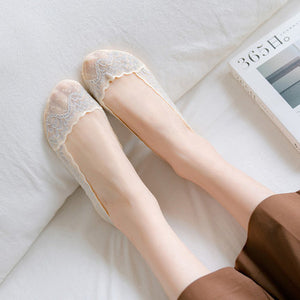 Summer Lace Non-slip Shallow Mouth Transparent Breathable Ultra-thin Ankle Invisible Socks - chicstocking