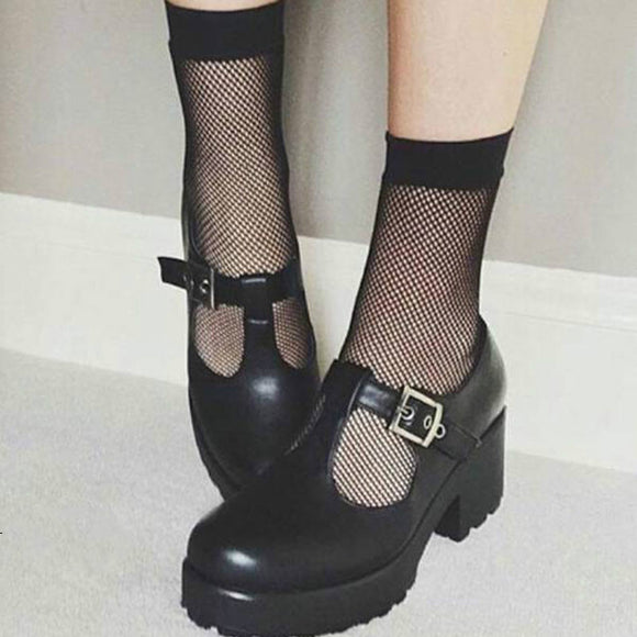 Sexy Lace Fishnet Thin Mesh Women Socks