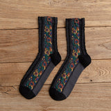 Winter Warm Flower Casual Short Cotton Socks - chicstocking