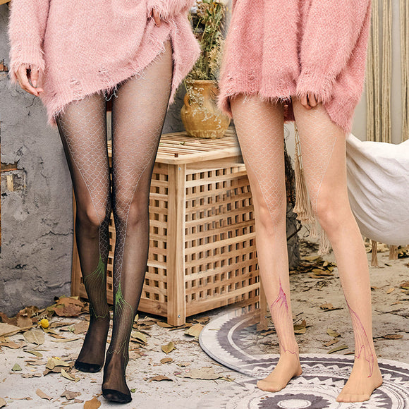 Ultra Thin Mermaid Breathable Thigh High Stockings - chicstocking