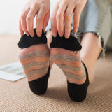 Summer Polka Dots Transparent Breathable Glass Silk Socks - chicstocking