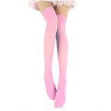 Women Sexy Warm Velvet Calze Stretch Thigh High Stockings - chicstocking