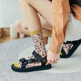 Transparent Ultrathin Leopard Cheetah Glass Silk Socks - chicstocking