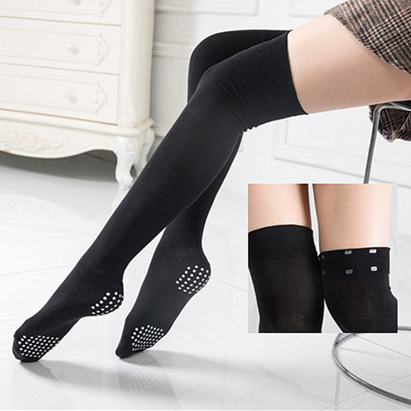Yoga Antislip Solid Color Thigh High Stockings