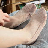 Lace Ice Silk Non-slip Shallow Mouth Invisible Ankle Socks
