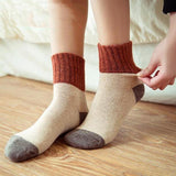 Retro Thickening Wool Patchwork Socks - chicstocking
