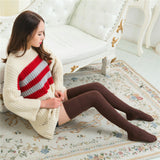 Retro Winter Warm Knitting Solid Color Thigh High Stockings - chicstocking