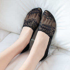 Summer Lace Leaves No Show Ankle Invisible Socks - chicstocking