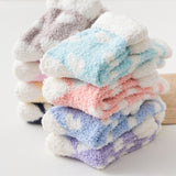 Candy Color Love Heart Cute Fluffy Fuzzy Terry Warm Casual Socks - chicstocking