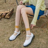Summer Ultra Thin Dots Transparent Short Socks - chicstocking