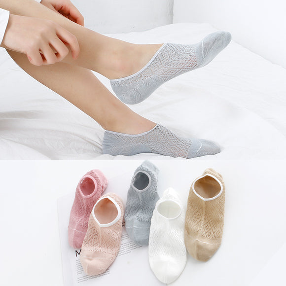 Candy Color Mesh Breathable Women Ankle Socks - chicstocking