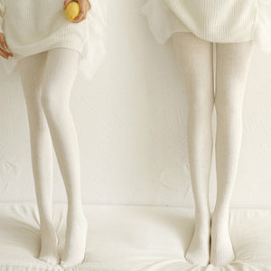 Winter Warm Colorful Cotton Knitted Striped Stockings Pantyhose