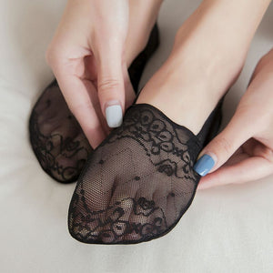 Hollow Mesh Lace Flower No Show Ankle Invisible Socks - chicstocking