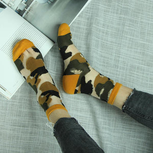 Summer Camouflage Breathable Glass Silk Short Socks - chicstocking
