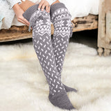 Knitting Christmas Warm Women Thigh High Stockings - chicstocking
