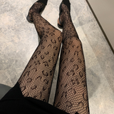Sexy Face Leopard Print Soft Long Stockings Pantyhose